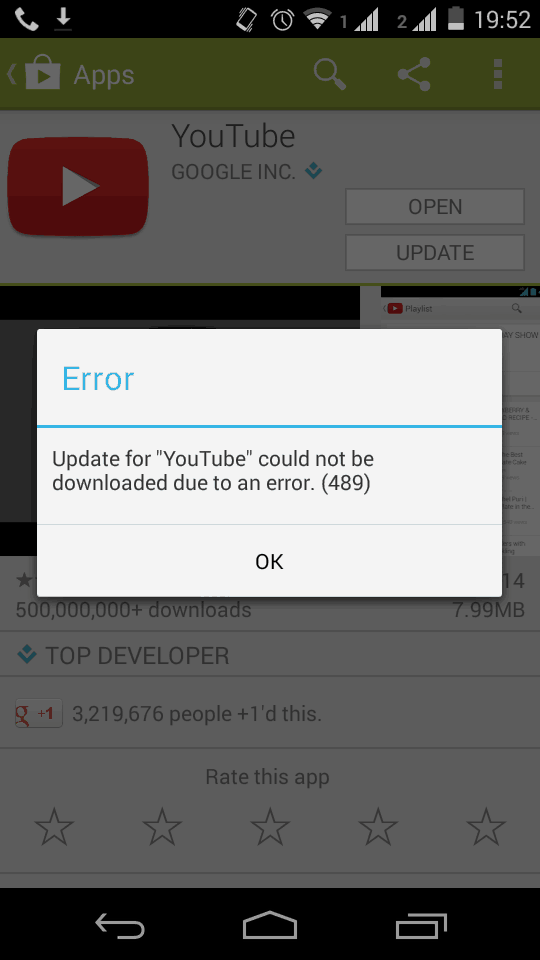could not be downloaded due to an error
