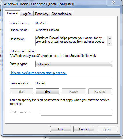 An error occurred while internet connection sharing was being enabled