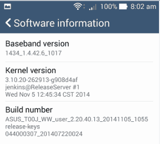 Developer option in Asus Zenfone 5