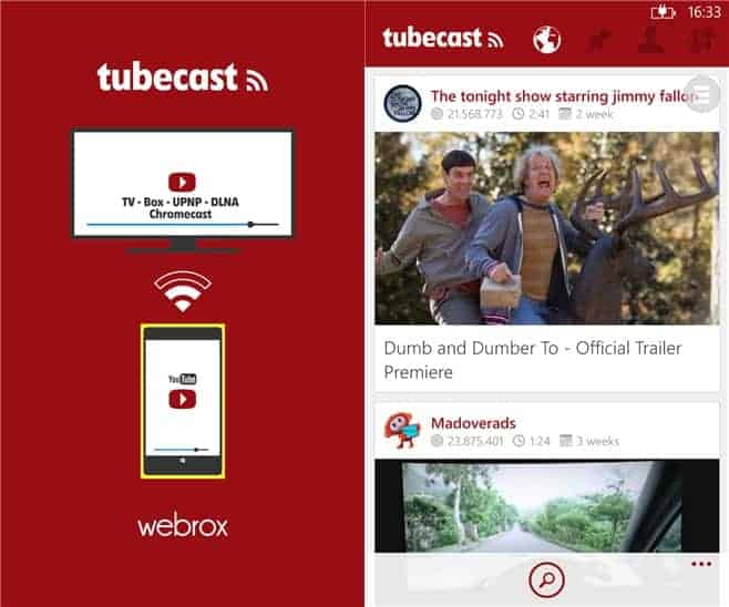 Tubecast Best chromecast app for windows