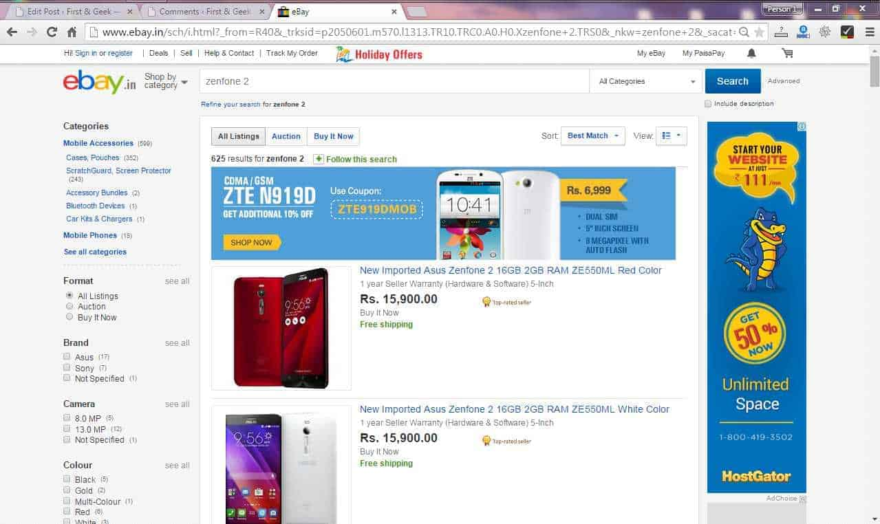 Where to buy Asus Zenfone 2 in India? Out of Stock in Flipkart