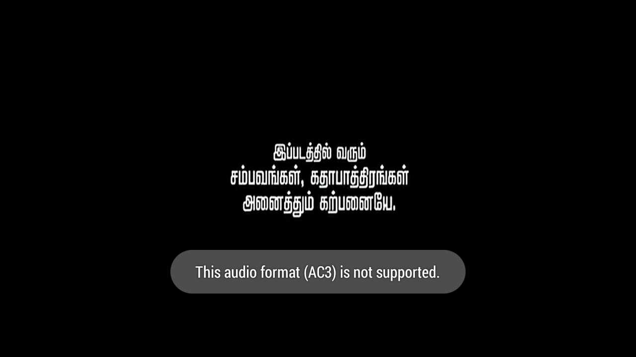 [Fix] This audio format is not supported in MX player