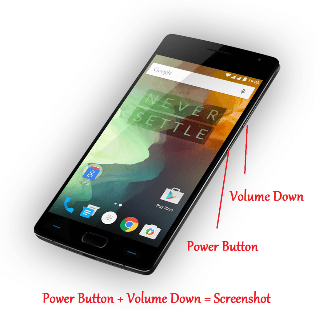 How to take Screenshot in OnePlus 2 without any apps?