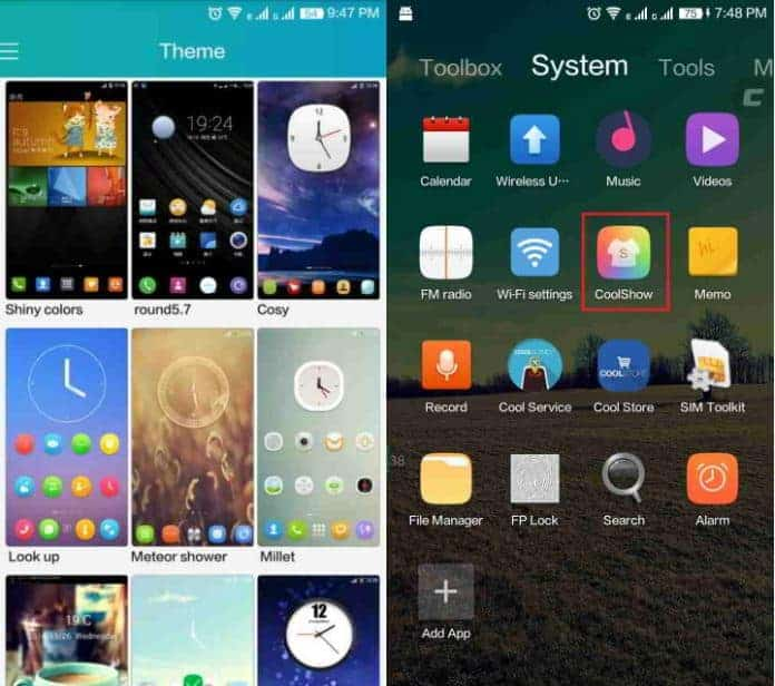 Download Coolpad Note 3 themes – Change the default Cool UI - First