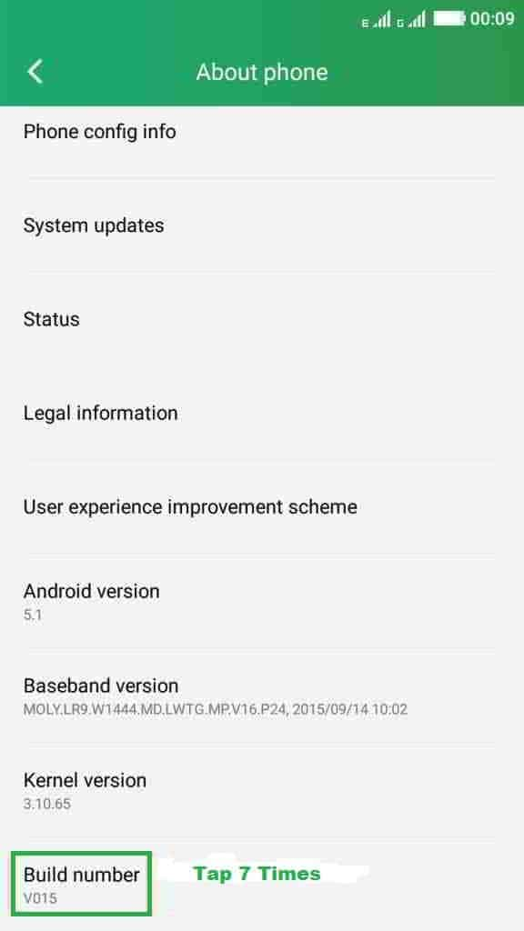 enable Enable Developer option and USB Debugging in Coolpad Note 3