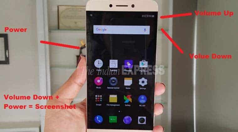 How to take Screenshot in LeEco Le 1s without any apps?