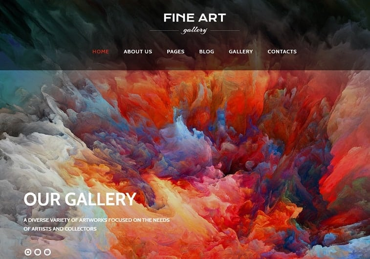 Fine Art Gallery Joomla Blog Template