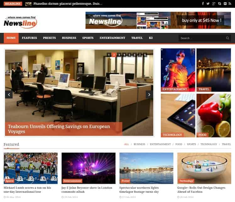 Newsline Joomla Blog Template