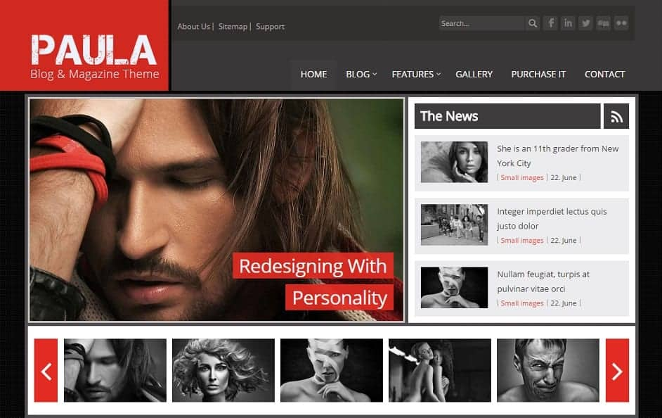 Paula Joomla blog Template