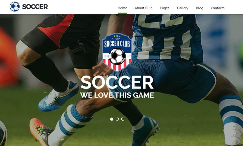 Soccer Joomla Blog Template