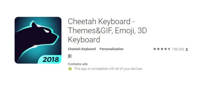 Cheetah Keyboard Review – Awesome and Free-of-charge Keyboard with Themes