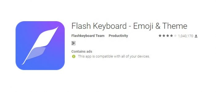 Flash Keyboard Review – Beautiful and Fun Emoji Keyboard