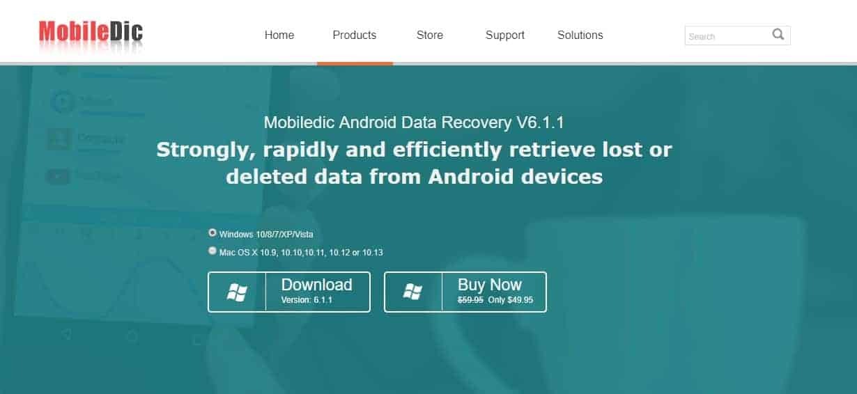 Mobiledic Android Data Recovery