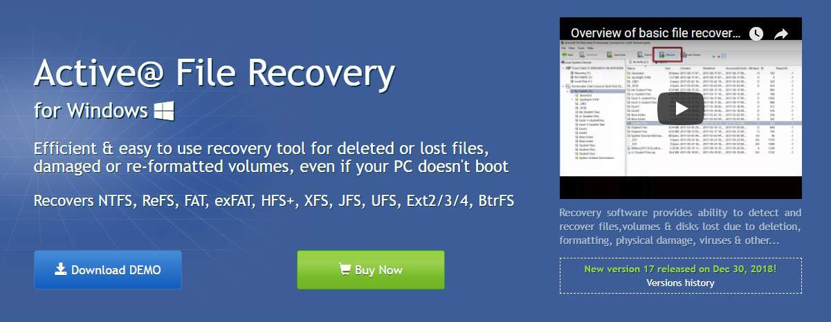 Active@ File Recovery for Windows