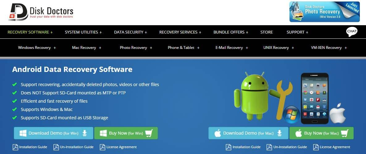 Disk Doctors Android Data Recovery Software