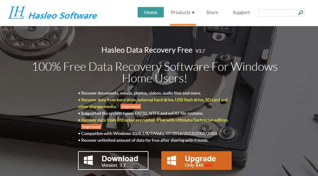 Hasleo Data Recovery for Windows