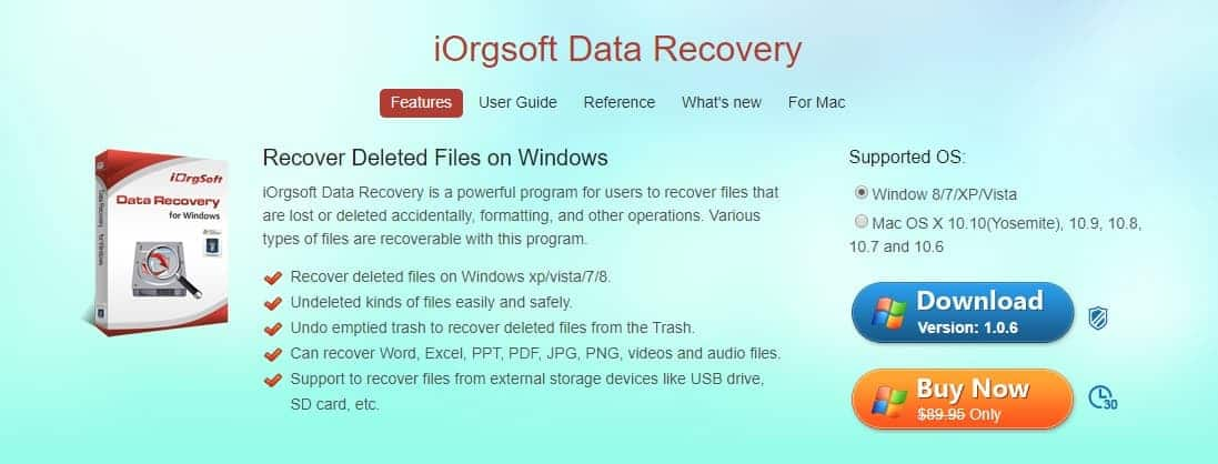 iOrgSoft Data Recovery